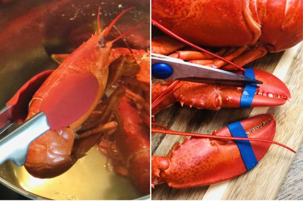 Easy Stuffed Baked Lobsters