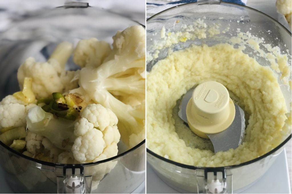 Cauliflower Leek Puree
