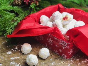 Cherry Pecan Snowball Cookies