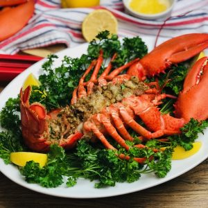 Easy Baked Stuffed Lobsters