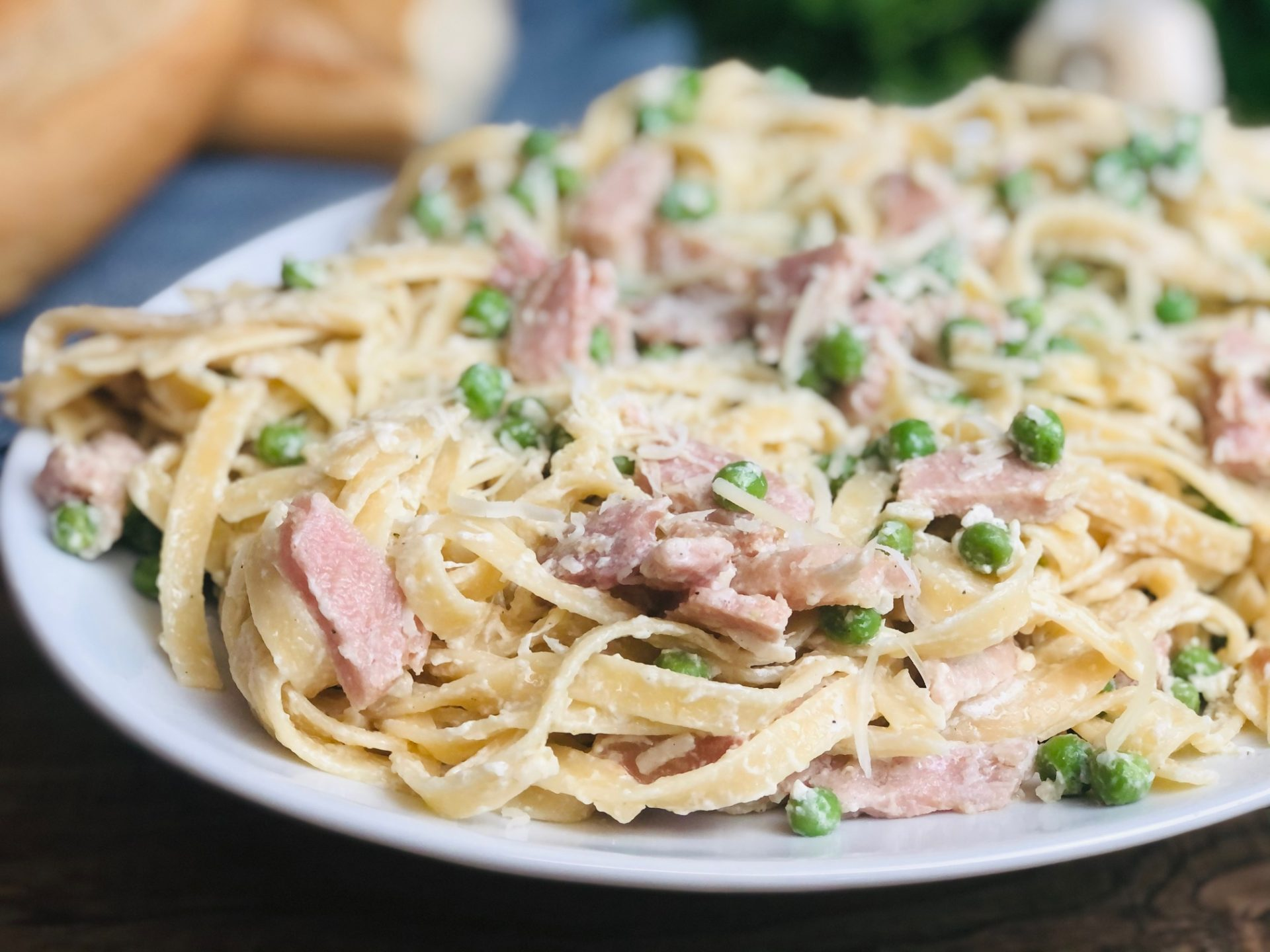 Ham-and-Pea-Fettuccine-Recipe